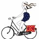 Fille a bicyclette