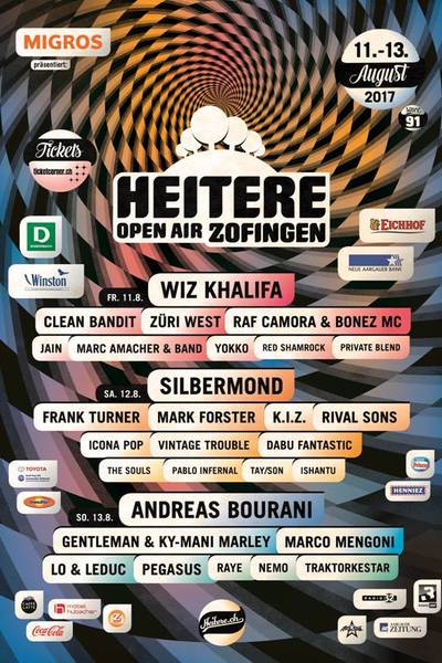 Festival artwork heitere open air zofingen 2017